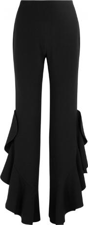 Cinq A Sept Helena Black Ruffled Trousers Size 10
