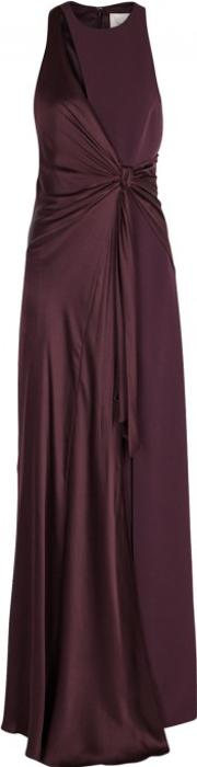 Clemence Aubergine Knotted Gown Size 12