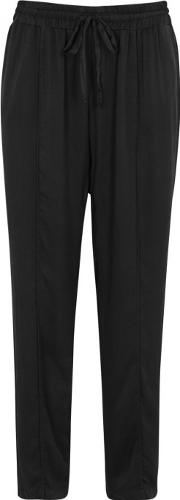 Black Washed Silk Jogging Trousers
