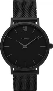 Minuit Black Stainless Steel Watch