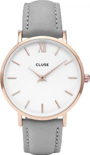 Minuit Rose Gold Tone Watch