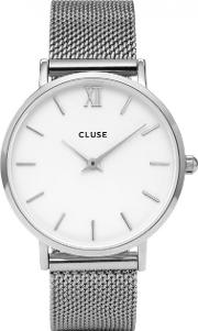 Minuit Silver Tone Watch