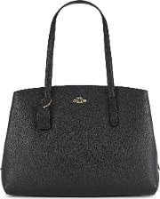 Charlie 40 Black Leather Tote