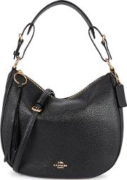 Sutton Black Leather Hobo Bag