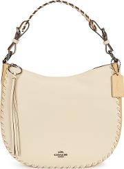 Sutton Ivory Leather Hobo Bag