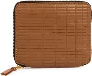 Comme Des Garcons Brown Embossed Leather Wallet
