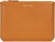 Comme Des Garcons Caramel Embossed Leather Pouch
