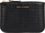 Comme Des Garcons Small Black Embossed Leather Pouch