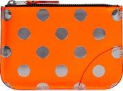 Comme Des Garcons Small Polka Dot Leather Pouch