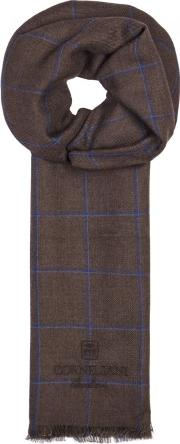 Checked Cashmere And Silk Blend Scarf