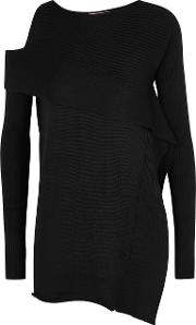 Black Cut Out Knitted Jumper