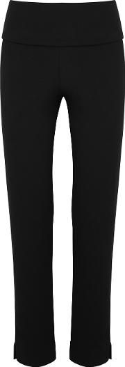 Black Stretch Jersey Trousers