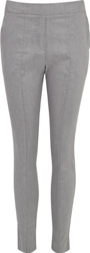 Grey Stretch Linen Trousers Size 12