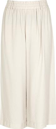 Light Grey Brushed Twill Culottes