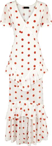 Juliette Polka Dot Silk Maxi Dress