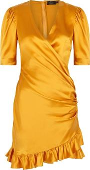 Shanna Saffron Silk Mini Dress