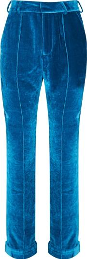 Tiger Lily Cropped Velvet Trousers