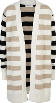 Striped Angora Blend Cardigan