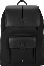 Motion Leather Trimmed Canvas Backpack