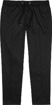 Black Stretch Cotton Trousers