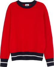Game On Red Cashmere Jumper