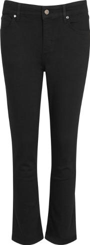 Kitty Kat Black High Rise Cropped Jeans