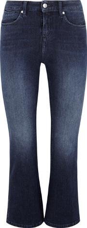 Lila Blue Embroidered Bootcut Jeans