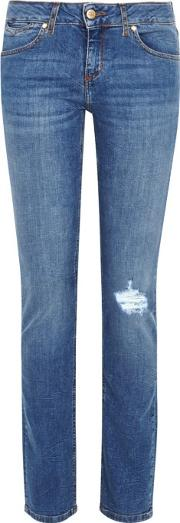 Rose Distressed Skinny Jeans Size W27
