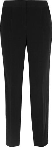 Black Satin Trimmed Tuxedo Trousers Size 8