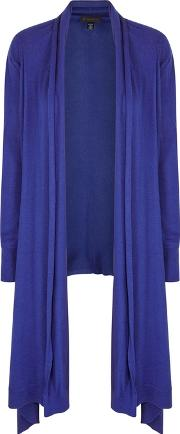 Cobalt Draped Cardigan