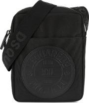 Manchester Black Canvas Cross Body Bag