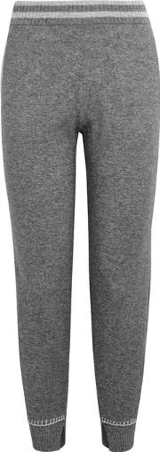 Grey Wool And Cashmere Blend Trousers