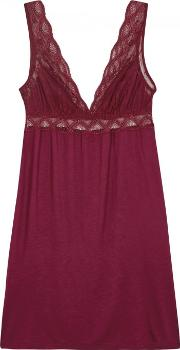 Georgina Lace And Jersey Chemise Size S