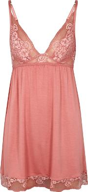 Noor Lace Trimmed Jersey Chemise