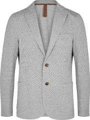 Grey Cotton Blend Jacket