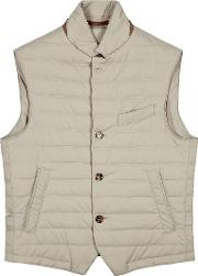 Stone Quilted Shell Gilet