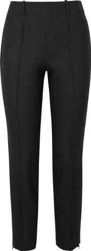 Judah Black Slim Leg Twill Trousers