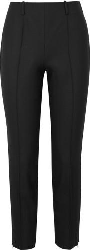 Judah Black Slim Leg Twill Trousers Size 6