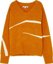 Pemba Orange Cotton Blend Jumper
