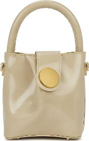 Buck Small Stone Leather Top Handle Bag