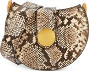 Tambour Python Effect Cross Body Bag
