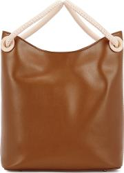 Vosges Small Brown Leather Tote