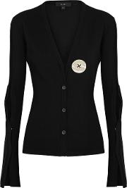 In Shape Black Stretch Knit Cardigan