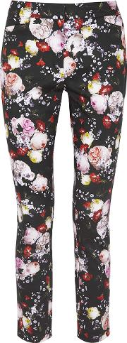 Sidney Floral Print Stretch Cotton Trousers
