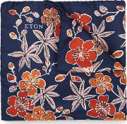 Flower Print Silk Pocket Square