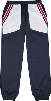 Navy Jersey Jogging Trousers