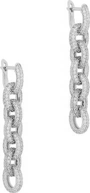 Forever Pave Crystal Embellished Earrings
