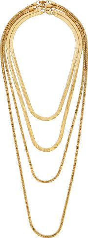 Monarch Gold Plated Layered Necklace
