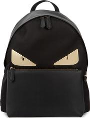 Monster Leather And Nylon Backpack