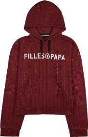 Filles A Papa Tracy Crystal Embellished Sweatshirt